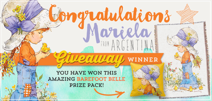 """Barefoot Belle"" Giveaway Winner Announcement"