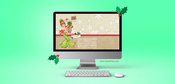 FREE Sarah Kay™ Christmas Desktop Wallpaper